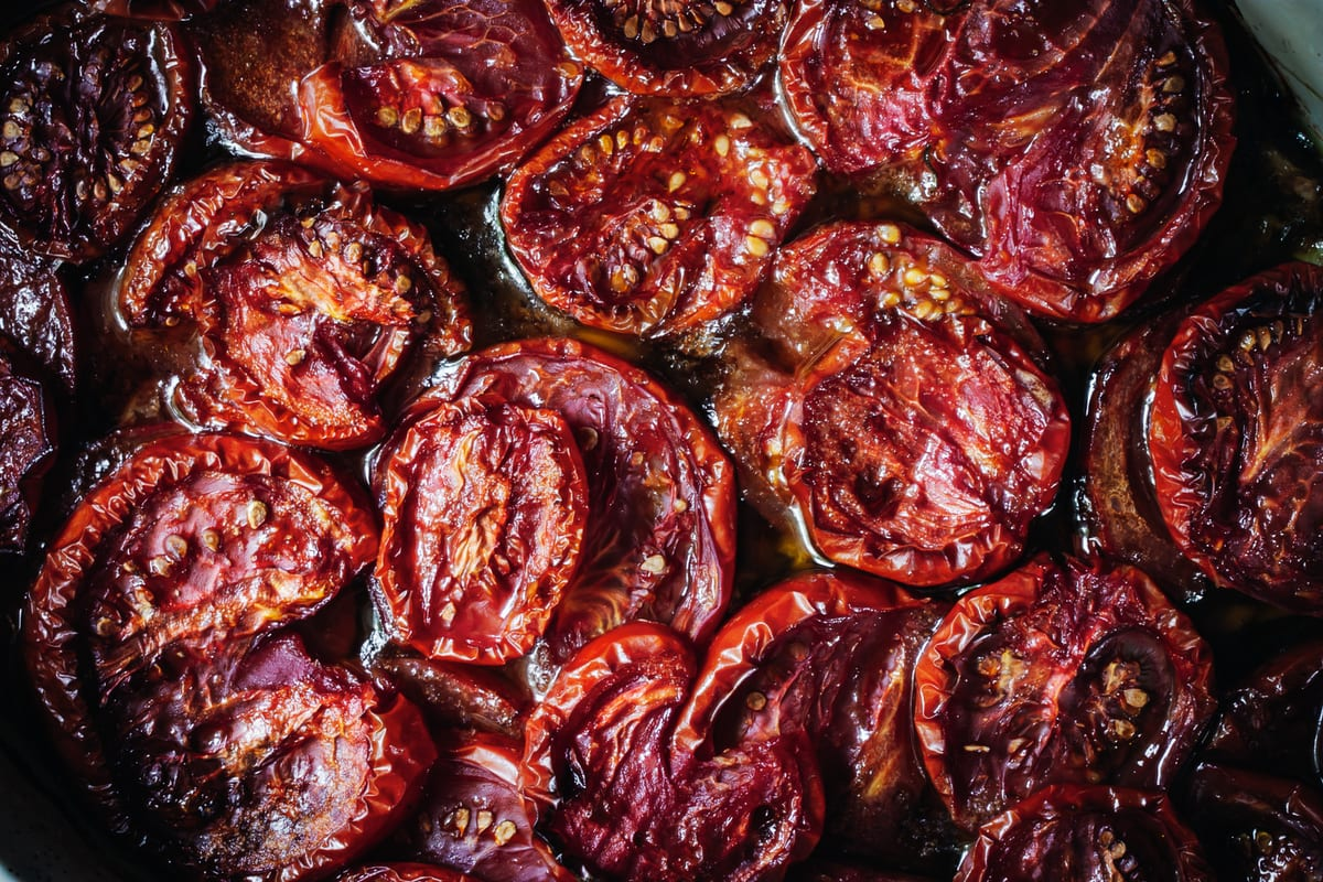 olive oil slow-roasted tomatoes